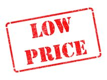 Low Price - Inscription on Red Rubber Stamp. Royalty Free Stock Image