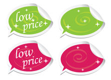 Low price stickers Royalty Free Stock Photography