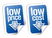 Low price stickers set. Royalty Free Stock Images