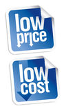 Low price stickers set. Royalty Free Stock Image
