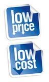 Low price stickers set. Royalty Free Stock Image