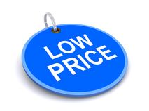 Low price tag. Illustration of low price tag isolated on white background Stock Photography