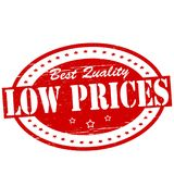 Low prices. Stamp with text low prices inside,  illustration Stock Images