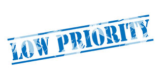 Low priority blue stamp Royalty Free Stock Photos
