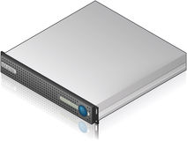 Low Profile Server Unit Royalty Free Stock Photography