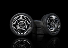 Low Profile tyres with sport mags Stock Photo