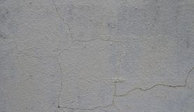 Low-quality cured plaster will easily crack the wall. High quality plastering prevents the wall from cracking easily. - Cause of the quality of the mortar and Royalty Free Stock Photos