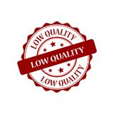 Low quality stamp illustration. Low quality red stamp seal illustration design Royalty Free Stock Photo