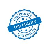 Low quality stamp illustration. Low quality blue stamp seal illustration design Royalty Free Stock Image