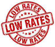 Low rates red  stamp Royalty Free Stock Photos