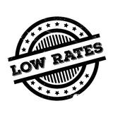 Low Rates rubber stamp Stock Image