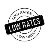 Low Rates rubber stamp Royalty Free Stock Images