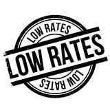 Low rates stamp Stock Image
