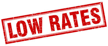 Low rates stamp Royalty Free Stock Photography