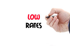 Low rates text concept. Isolated over white background Royalty Free Stock Photo