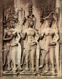 Low relief in Angkor Royalty Free Stock Photography