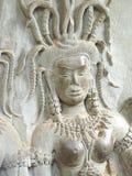 Low relief of Apsara at Angkor Wat Stock Photo