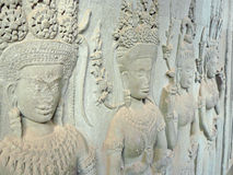 Low relief of Apsara Stock Photography