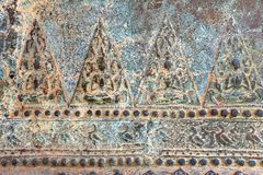 Low relief art on metal, Thai style handcraft of thai temple for background and design. Thai art Stock Photos