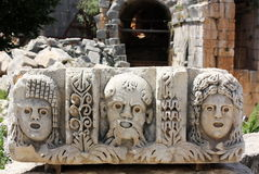 Low relief. Bas-reliefs near of ancient ruins of Asia Minor Stock Photography