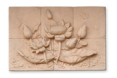 Low relief cement Thai style Royalty Free Stock Photos