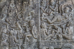 Low relief cement Thai style handcraft Royalty Free Stock Image