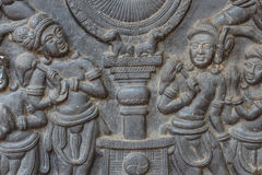 Low relief cement Thai style handcraft Royalty Free Stock Photo