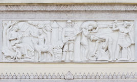 Low Relief at Democracy Monument of Bangkok, Thailand Stock Image