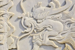 Low relief dragon Royalty Free Stock Photo