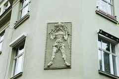 Low relief of the eastern warrior. Royalty Free Stock Photos