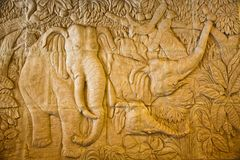This low relief of elephan Royalty Free Stock Images