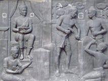 Low relief of King Ramkhahaeng. Stock Photos