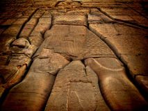 Low relief at the Kom-Ombo temple (Egypt) Stock Photos