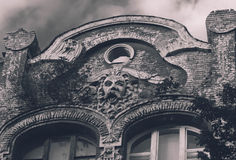 Low-relief. On old building in Kiev, Ukraine Royalty Free Stock Photo