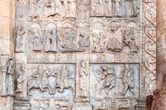 Low relief of portal of Basilica di San Zeno Royalty Free Stock Photos