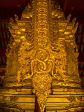 Low relief sculpture in Buddhist temples Thailand Stock Image