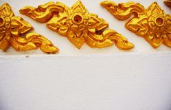 Thai golden pattern Royalty Free Stock Photography