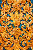 Low Relief of Thai Pattern Style on the Wall Royalty Free Stock Photos