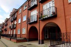 Low-rise apartment blocks in Swansea Harbor Royalty Free Stock Photo
