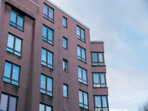 Low Rise Apartment Building with Corner Windows Royalty Free Stock Photography