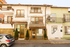 Low-rise architecture of the Bulgarian city of Pomorie Stock Photography