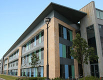 Low rise office building. Modern low rise office building royalty free stock photo
