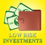 Low Risk Investments Meaning Safe Investing 3d Illustration. Low Risk Investments Wallet Meaning Safe Investing 3d Illustration Royalty Free Stock Photos