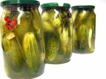 Low-salt komkommers Stock Afbeelding