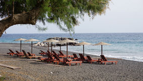 Low season for greece tourism on santorini island Royalty Free Stock Photography