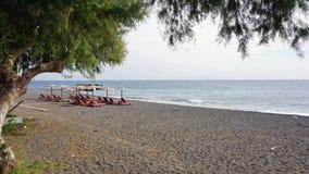 Low season for greece tourism on santorini island Stock Image