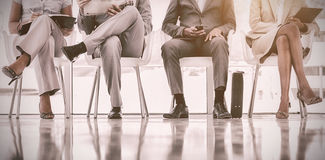 Low section of business people waiting Royalty Free Stock Photography