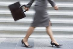 Low Section OF Businesswoman Walking Stock Images