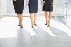 Low section of businesswomen standing on tiled floor in office Stock Photography