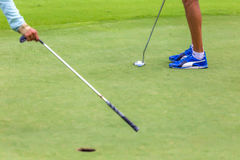 Low section of female golf player Royalty Free Stock Photography